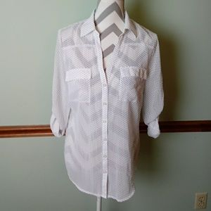 New New York & Co size medium button front top